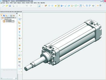 3D model pneumatického válce pro Váš CAD