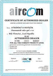 Certifikát o autorizaci prodeje rozvodů vzduchu